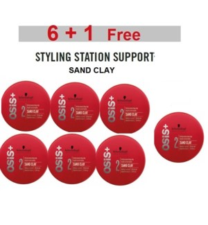 SC OSIS+  6 + 1 SAND CLAY  85ML (GRITTY TEXTURIZING CLAY)
