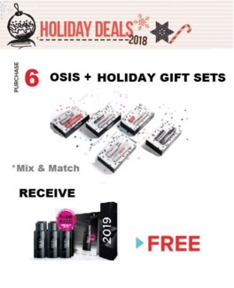 SC OSIS+ SUPER DRY FIX SAMPLE KIT W/6 OSIS+ HOLIDAY SETS
