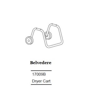 BELVEDERE DRYER CART (NO HANDLE)