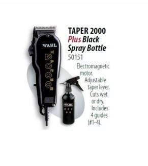 WAHL TAPER 2000 BLACK + SPRAY BOTTLE