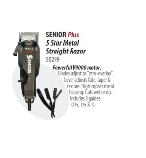 WAHL 5-STAR SENIOR W/ STRAIGHT RAZOR