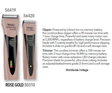 WAHL LE ROSE GOLD LITHIUM CHROMADO/CHROMINI+ COMBO//ND'18