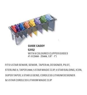 WAHL GUIDE CADDY (8 PACK COLOR CODED)