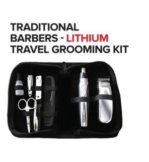 WAHL TRADITIONAL BARBERS - LITHIUM TRAVEL GROOMING KIT