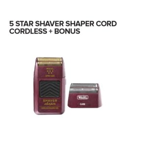 WAHL 5 STAR SHAVER SHAPER CORD CORDLESS + REPL FOIL   ND'19