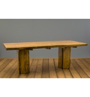 "90"" Rustic Wood Dining Table"