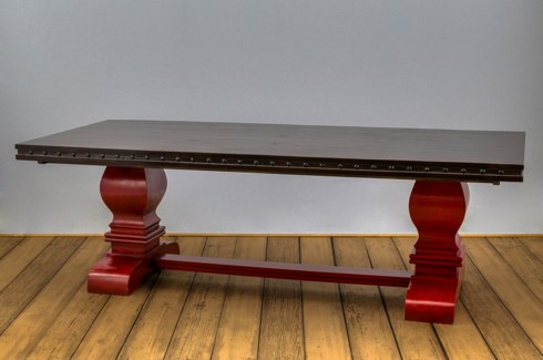 "84"" Needham Trestle Dining Table"
