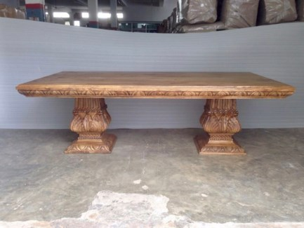 Amer Carved Dining Table 96""