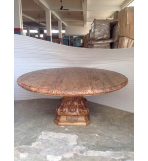 """Amer Carved Round Dining Table 72"""""""