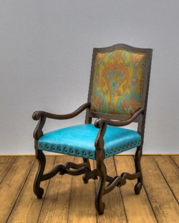 Crown Wood Framed Back Arm Chair