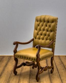 Crown Tufted Arm Chair