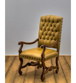 Crown Tufted Arm Chair