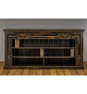 Madrid Carved Open Bookshelf / Plasma TV Stand