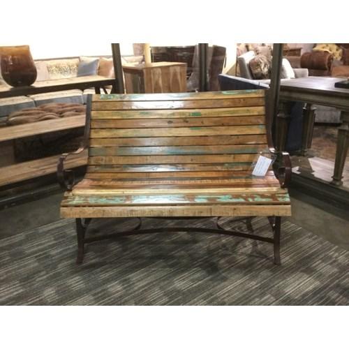Astonishing Reclaimed Wood Iron Garden Bench Reclaimed Wood Trendily Short Links Chair Design For Home Short Linksinfo