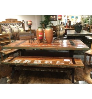 Reclaimed Wood Iron Dining Table