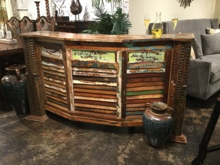 Reclaimed Wood Bar Armoire