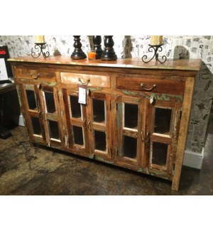 Reclaimed Wood 6 Door Buffet