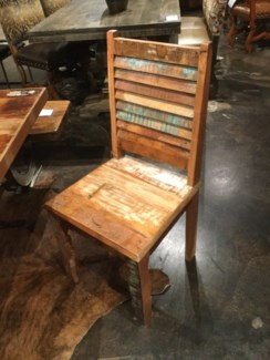 Reclaimed Wood Side Chair