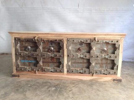 Reclaimed Wood Old Door Sideboard