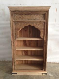 Reclaimed Wood Old Door Open Bookshelf