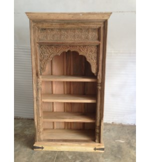 Reclaimed Wood Old Door Open Bookshelf