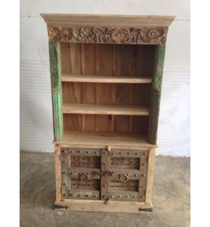 Reclaimed Wood Old Door Bookshelf w/ 2 Door