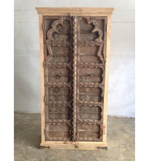 Reclaimed Wood Old Door Almirah 2 Door