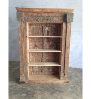 Reclaimed Wood Old Door Bookshelf