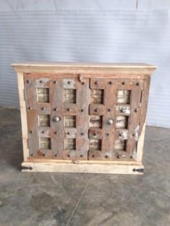 Reclaimed Wood Old Door 2 Door Cabinet