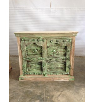 Reclaimed Wood Old Door 2 Door Cabinet