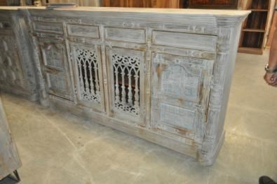 Reclaimed Wood Old Door Sideboard