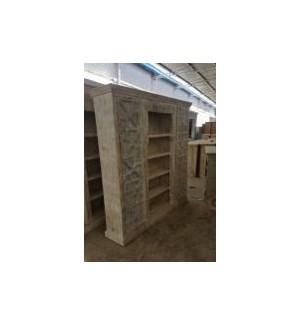 Reclaimed Wood Old Door Bookcase
