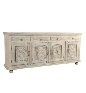 Reclaimed Wood Carved Sideboard