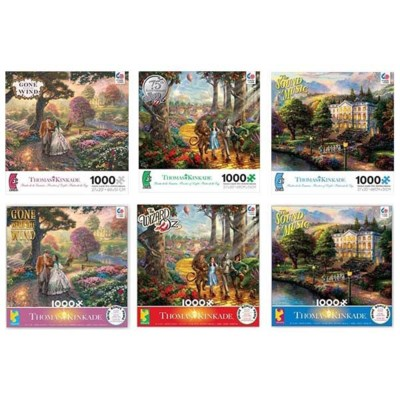 THOMAS KINKADE WB MOVIE CLASSICS 1000PCS.(6) *SD*