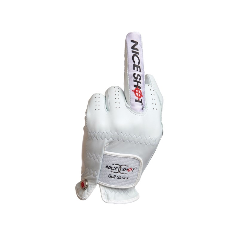 NICE SHOT GOLF GLOVE THE BIRD WHI LRH/S (6)