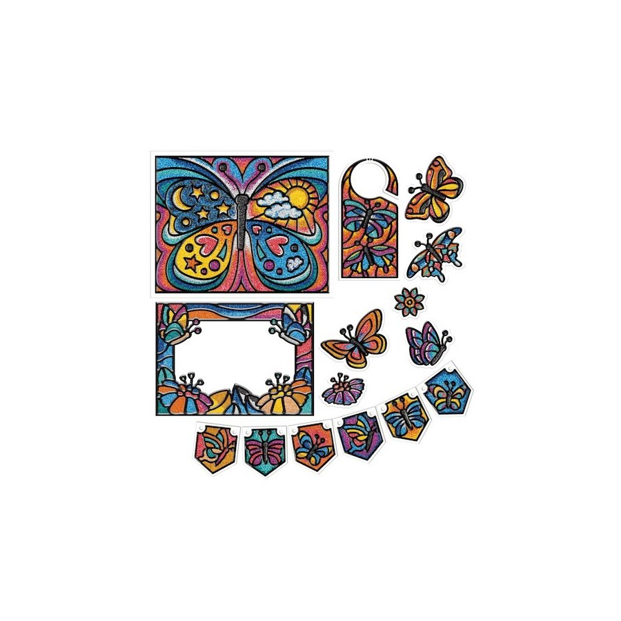 MICRO MOSAIC™ ALL-IN-ONE KIT BUTTERFLIES (6) BL *SD*
