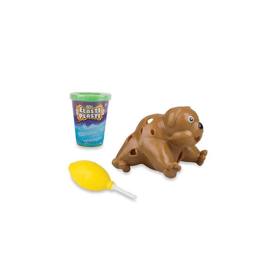 SLIMY™ ELASTI PLASTI™ TOOTABLES DOG (4)*SD* BL