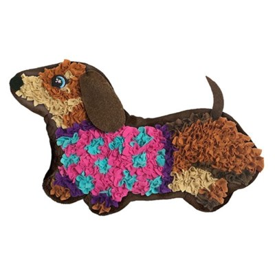 PLUSHCRAFT WIENER DOG PILLOW (6) *SD* BL