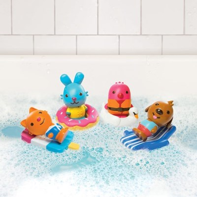 BATH - EZ CLEAN BATH SQUIRTERS AND FLOATIES 8PC (4) BL