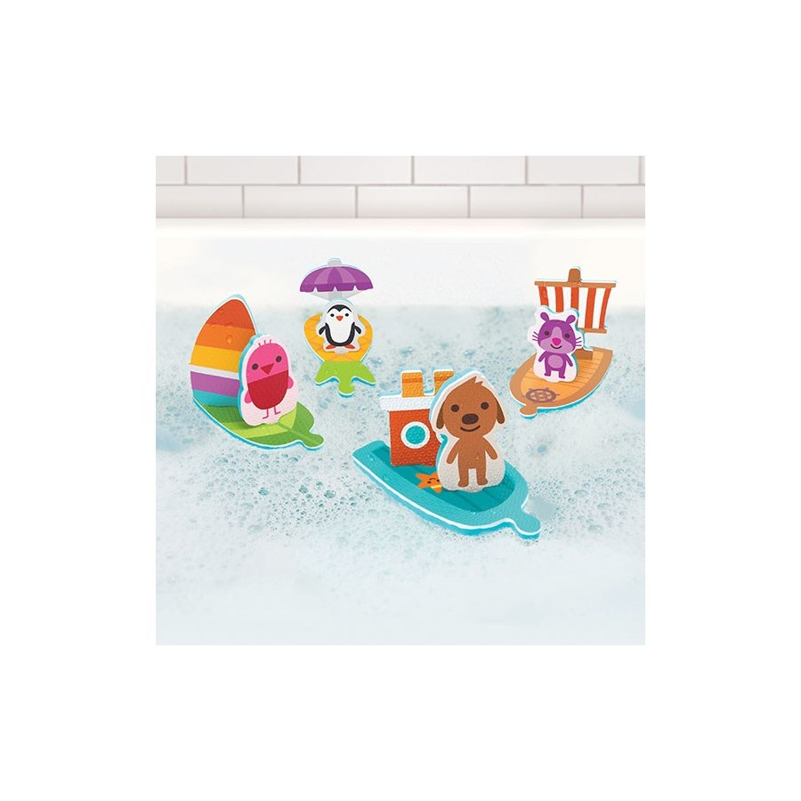 BATH - FOAM BOATS 14PC (10) BL