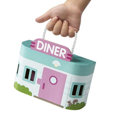 PORTABLE PLAYSET - JACKS DINER 13PC (4) BL