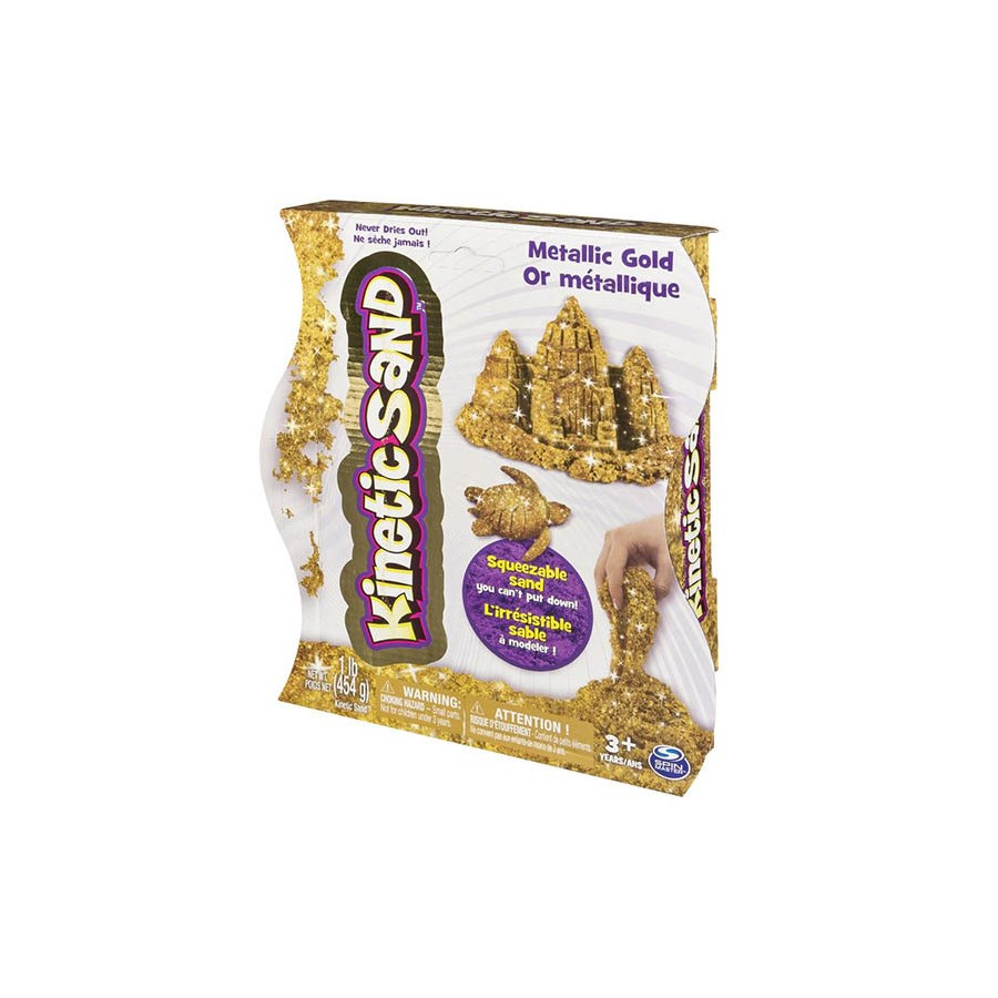 KINETIC SAND 1LB METALLIC ASST (6)