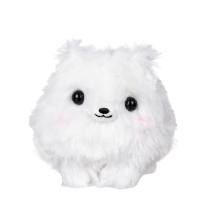 "AMUSE - WHITE POMERANIAN 4""  KEYCHAIN (10) ML"