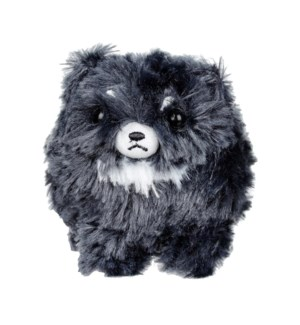 "AMUSE - BLACK POMERANIAN 4""  KEYCHAIN (10) ML"