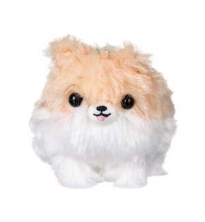 "AMUSE - TAN/WHITE POMERANIAN 4""  KEYCHAIN (10) ML"
