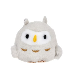 "AMUSE - GREY OWL 4"" KEYCHAIN (10) ML"