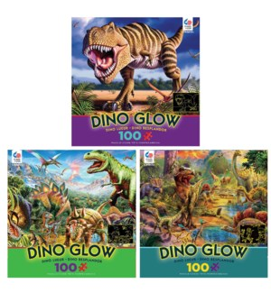 100PC DINO GLOW IN DARK ASST (6) BL