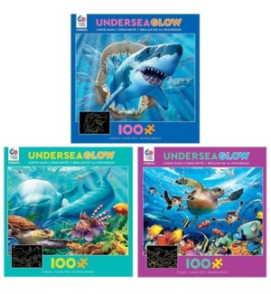 100PC UNDERSEA GLOW IN DARK ASST (6) BL