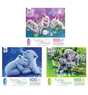 100PC FURRY FRIENDS ASST (6) BL