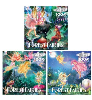 100PC FOREST FAIRIES GLITTER ASST (6) BL